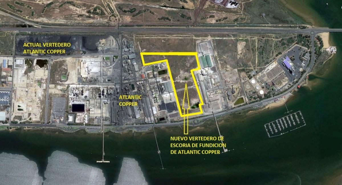 Un nuevo vertedero de escoria industrial para Atlantic Copper, avalado por el Puerto y con vistas a la Ría