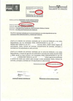 Pregunta del PSOE del 19 de