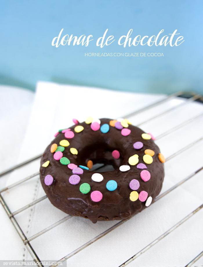 receta de donas de chocolate