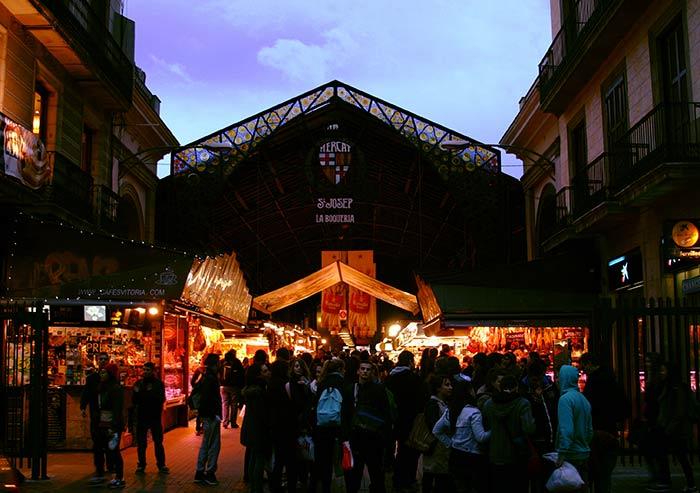 la boqueria, mercado de barcelona