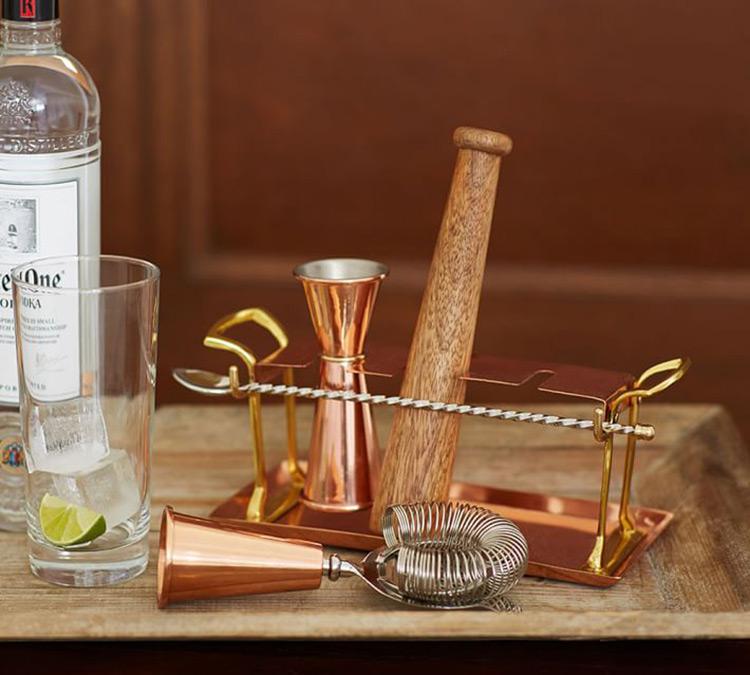 set de bar de cobre, regalos para foodies
