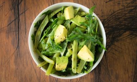 Ensalada verde de ejotes y limón amarillo
