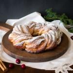 Rosca de navidad con canela y especias