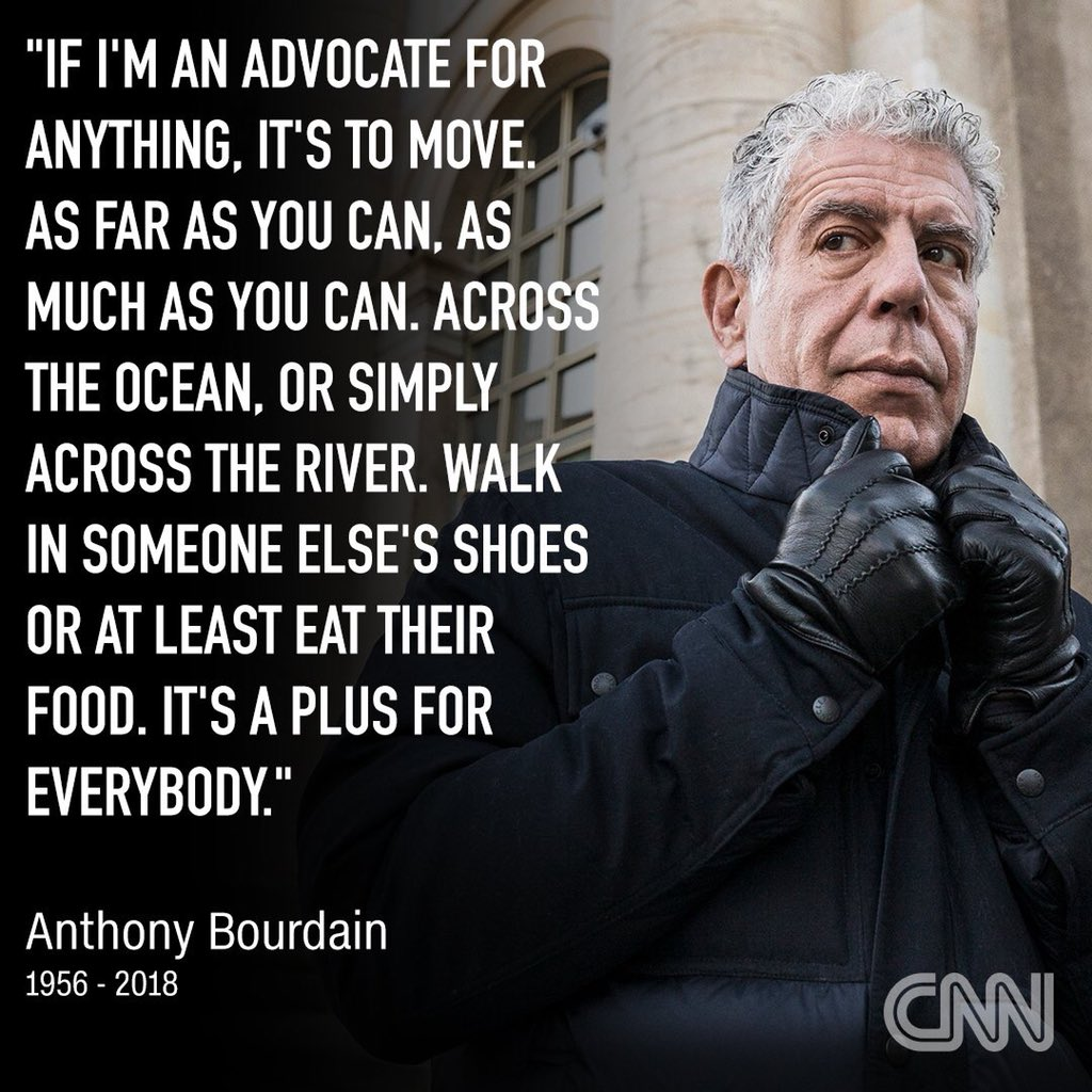 Muere Anthony Bourdain | Revista Maria Orsini