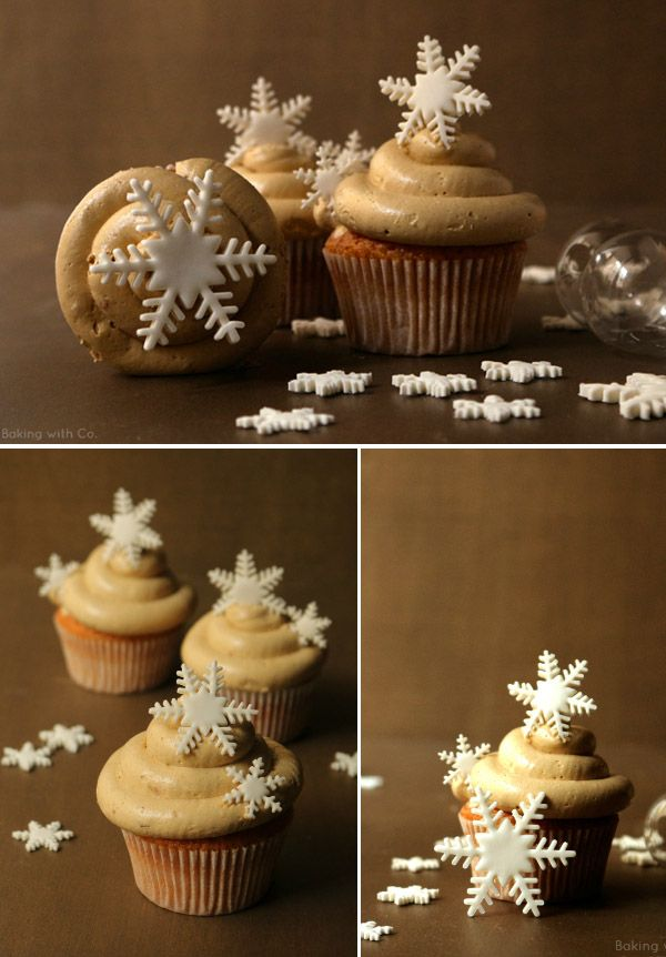 Postres navideños: cupcakes de turrón