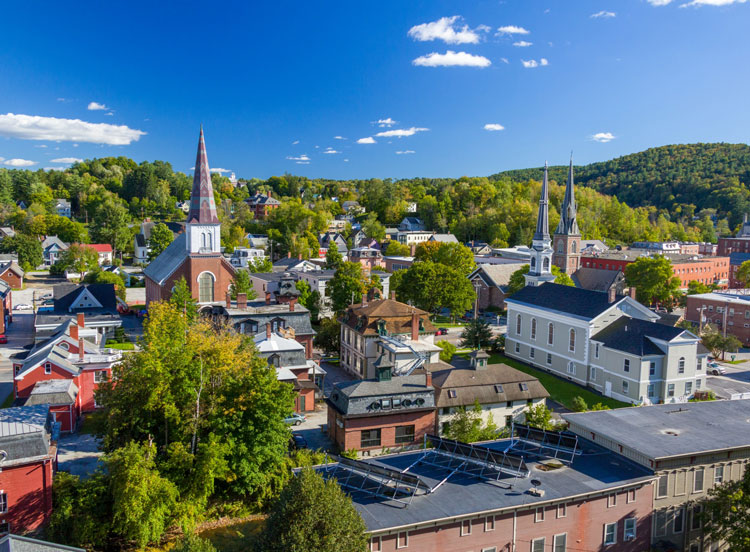 pequeños pueblos de eua: montpelier, vermont
