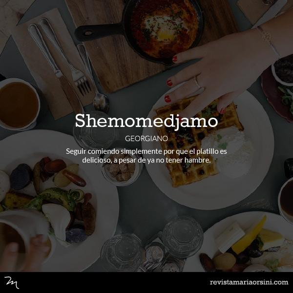 Shemomedjamo - Palabras deliciosas sin traducción
