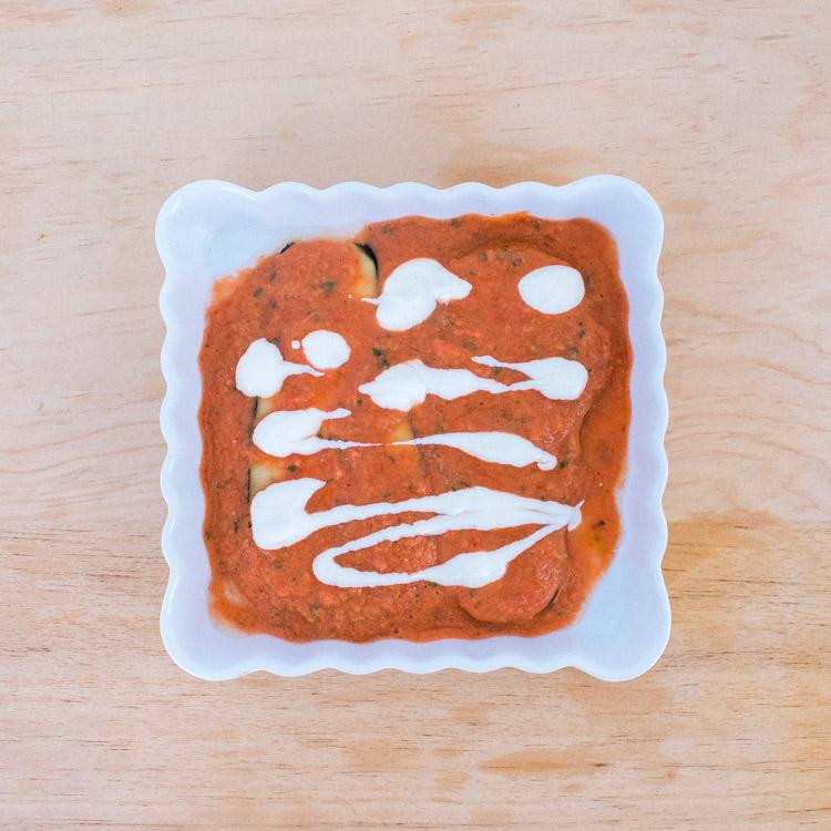 Berenjenas al horno en salsa de tomate