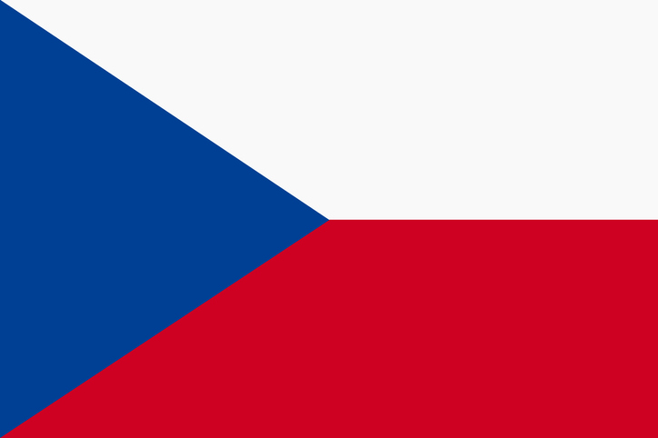 A Czech Republic flag background illustration large file