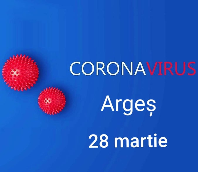 Situația Covid-19 în Argeș la 28 martie 1