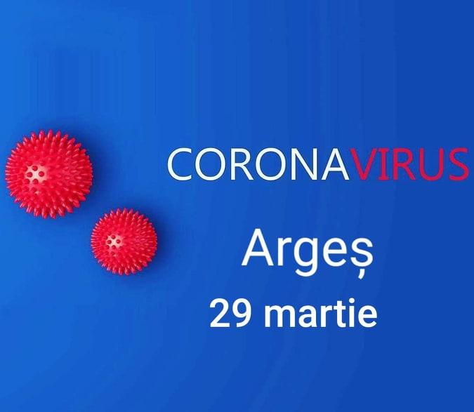 Situația Covid -19 în Argeș la 29 martie 1