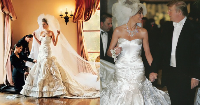 25 Most Expensive Wedding Dresses in the World Melania Knauss1