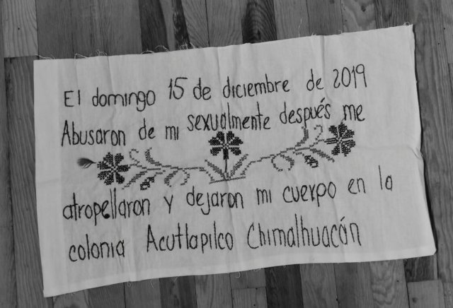 "Colectiva Vivas en la Memoria. ""No se sabe mi nombre, Chimalhuacán""   Live in the Memory Collective. ""My name is not known, Chimalhuacán"""