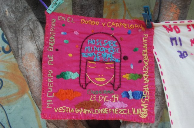 "Colectiva Vivas en la Memoria. ""No se sabe mi nombre, Neza""    Live in the Memory Collective. ""My name is not known, Neza"""