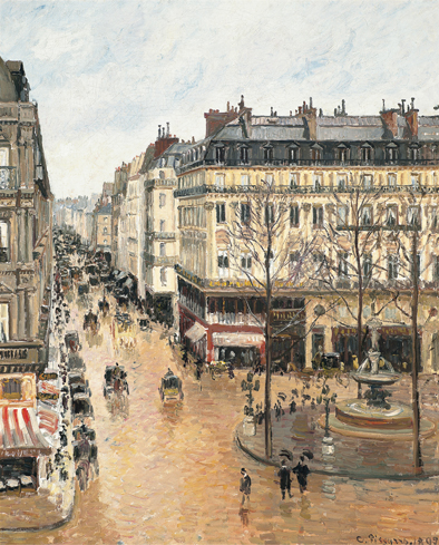 Rue Saint‐Honoré por la tarde. Efecto de lluvia, 1897 (Rue Saint‐Honoré in the Afternoon, Effect of Rain) Óleo sobre lienzo. 81 x 65 cm Museo Thyssen‐Bornemisza, Madrid