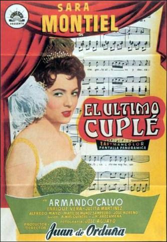Cartel de la película El último cuplé de Juan de Orduña
