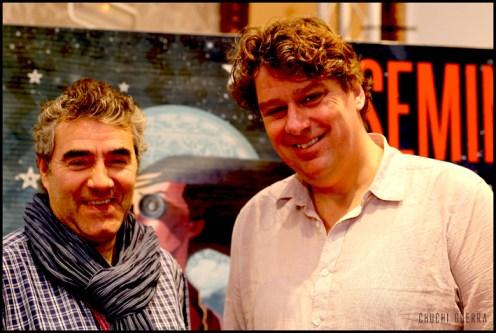 Con el director Diederick Ebbinge, después de haberle dado un abrazo