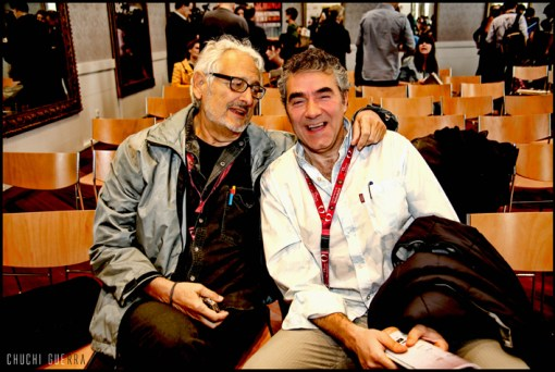Con Ángel Comas, gran comentarista y gran amigo con el que cada día aprendo algo