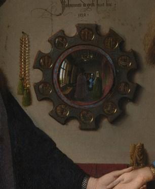 Detalle del espejo de El matrimonio Arnolfini