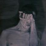 Shadow, óleo sobre lienzo por Qui Jun de la galeria Nuvem, en la Feria Internacional de Arte de Sao Paulo, 2015.