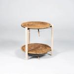 Mesa en espiral, diseñada por el colombiano Juan Cappa, finalista en la categoría de producto artesanal, de los Premios Lápiz de Acero 2015.