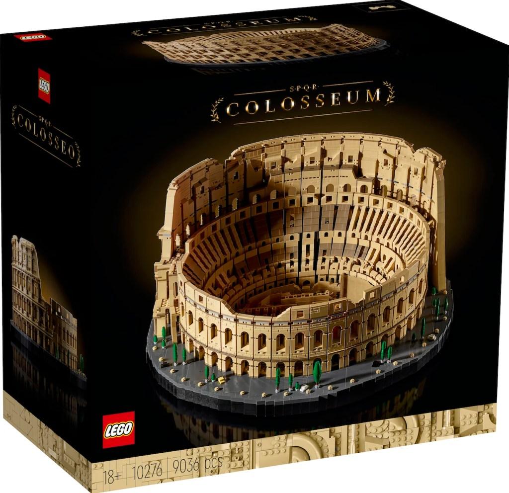 Caja original del lego del coliseo de Roma