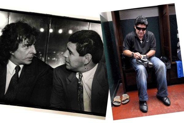 Mi foto con Maradona: Silvana Colombo y Maxi Vernazza