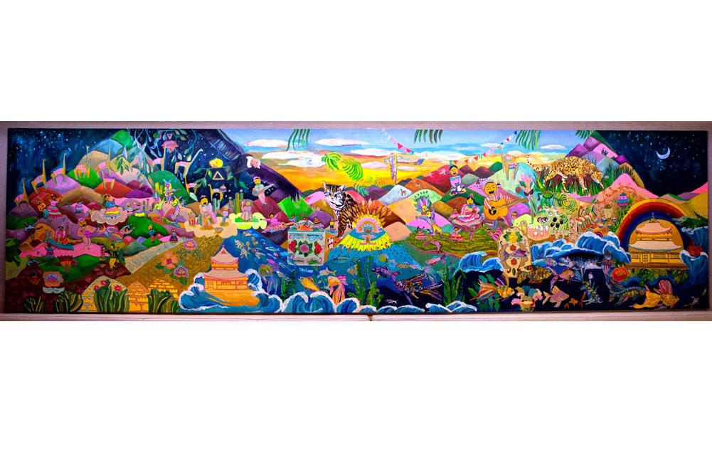 Mural Akira Nikkei Acassuso 2013- Tecnica Acrilico sobre pared 500 cm x 400 cm