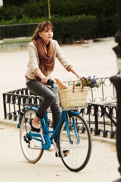 estilo para andar de bicicleta