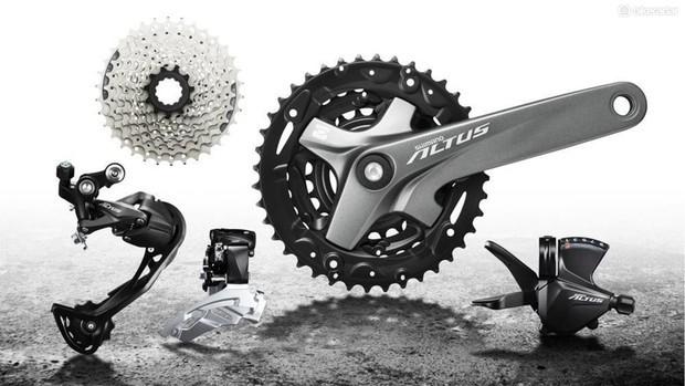Altus é o grupo que você provavelmente encontrará em bicicletas de montanha de nível básico