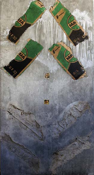 """""""estela #07 (Amarildo)"""", trabalho que se refere ao ajudante de pedreiro assassinado por forças policiais na Rocinha"""