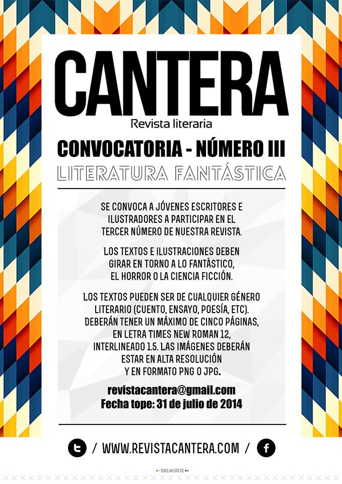 convocatoria revista cantera