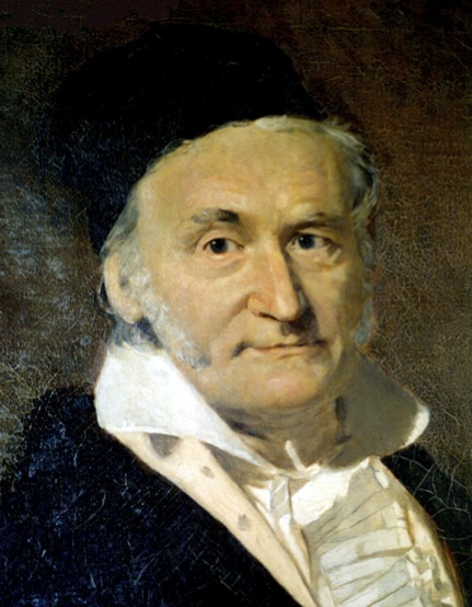 Figura 3: Pintura al óleo del  matemático y filósofo Carl Friedrich Gauss por G. Biermann (1824-1908).
