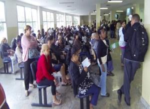Sala de espera do ambulatório do Hospital de Acari