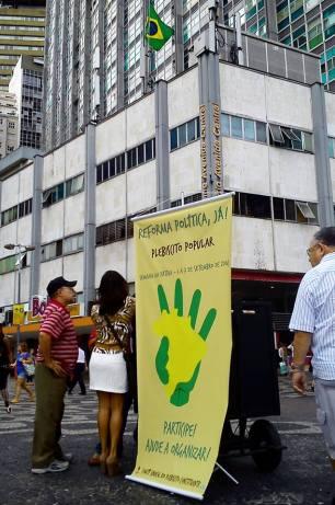 Durante a Semana de Pátria, de 1º a 7 de setembro, urnas foram espalhadas em todo o país na campanha por um Plebiscito Popular.