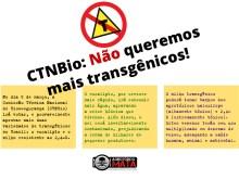 CTNBio: Não queremos mais transgênicos!