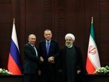 Chefes de Estado da Rússia, Turquia e Irã durante reunião sobre a Síria. Foto: ADEM ALTAN/AFP/GETTY IMAGES