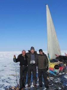 Vanea Suknyov, eu, Dima Bîkov (cu ochelari) - Expeditie peste Baikal 2013