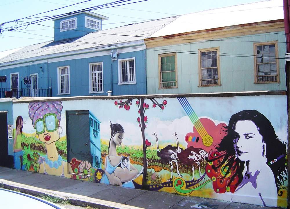 Murro graffitado pelo americano Cern no Chile.