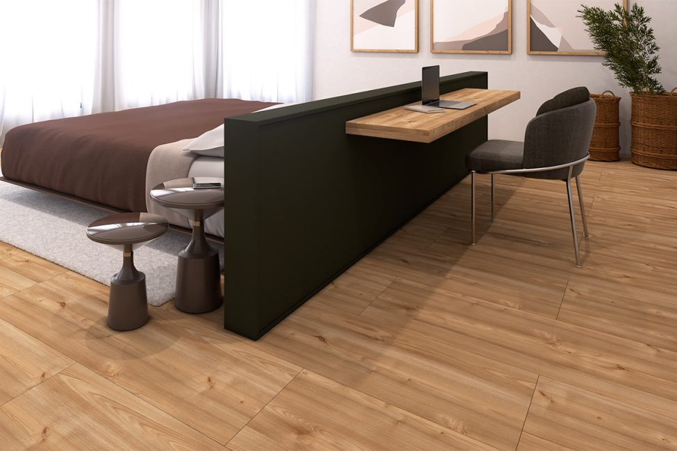 Inspirado no conceito Hygge, a Eucafloor traz uma reflexão sobre as necessidades do momento atual através de novos pisos laminados que buscam incorporar uma maior sensação de acolhimento aos ambientes. Foto: Divulgação