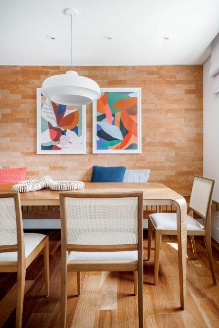 Área social de um apartamento em Moema assinada pela BRISE ARQUITETURA _ foto 5