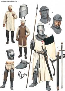 La caída de los templarios. Equipamiento de un Caballero Templario