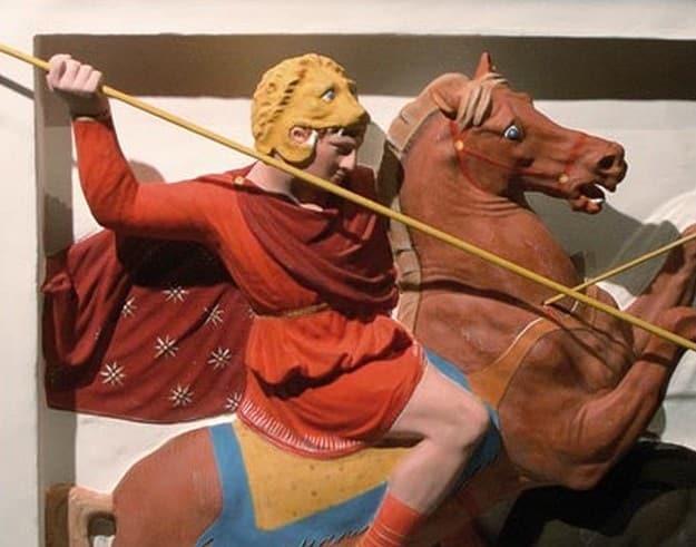 Los colores de las antiguas estatuas