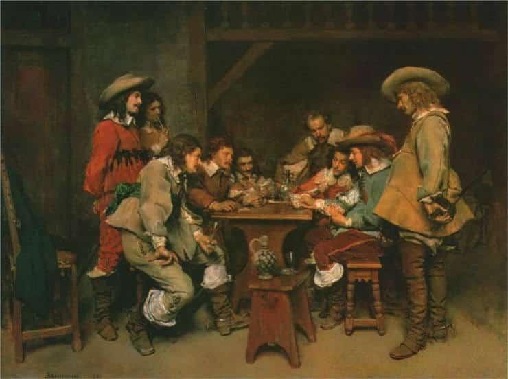 """Los juegos en la Corte de Francia. """"El juego del piquet"""", del pintor Jean Loius Ernest Messonier, 1861."""