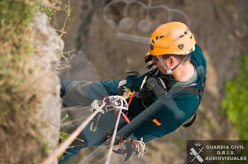 La Guardia Civil rescató el cuerpo del montañero de Canet