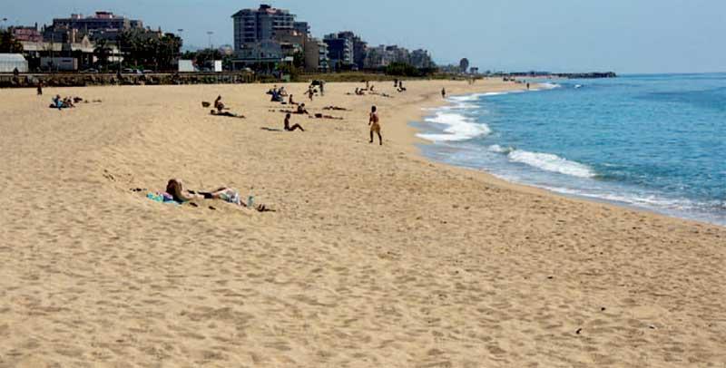 Imagen de la playa de Llevant, en Premià. Autor: Costa de Barcelona
