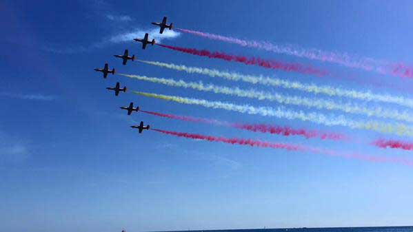 La patrulla águila del Ejército del Aire fue la estrella de la Festa