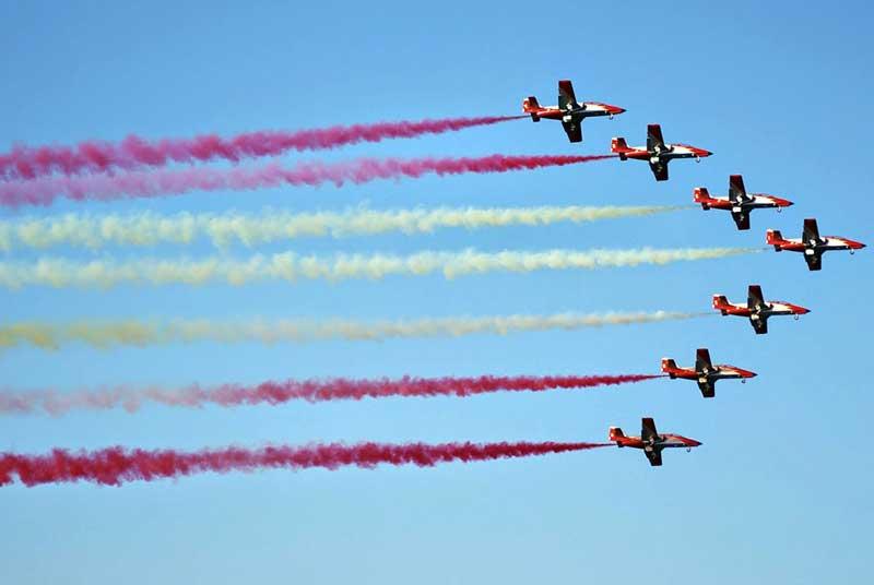 La Patrulla Aguila del Ejército Español será el plato fuerte del festival aéreo