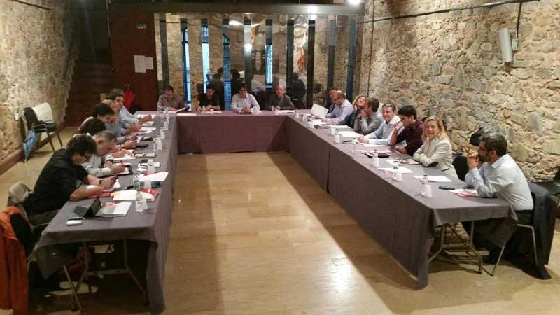Momento de la reunión en Argentona