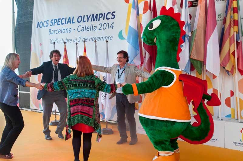 Momento de la clausura de los Special Olympics del 2014